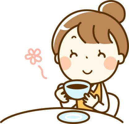 コーヒー飲む女性